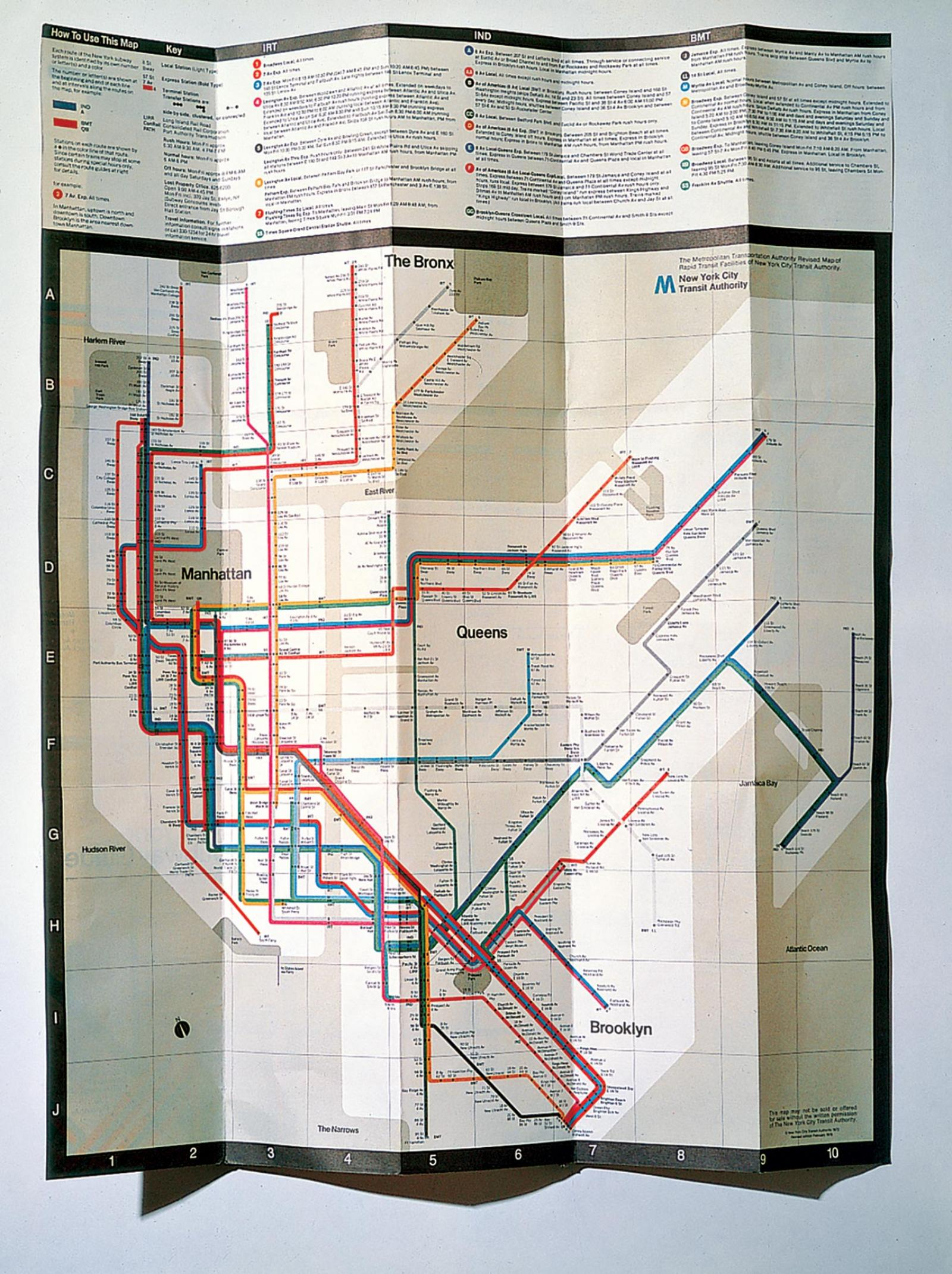 Nyc Subway Map Massimo Vignelli.New York City Transit Authority Subway Map Agi